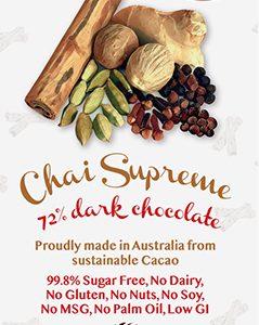 Little Zebra - Chai Supreme 72% Dark Chocolate - 85g from Berry Bon Bon theberrybonbon.com.au