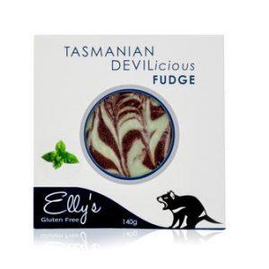 Ellys Gourmet Confectionery Tasmanian Devilicious Fudge (Mint) - 140g from Berry Bon Bon theberrybonbon.com.au