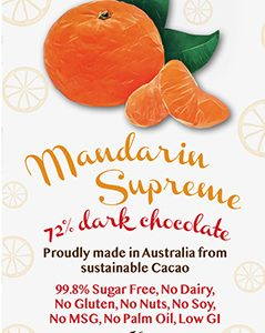 Little Zebra - Mandarin Supreme 72% Dark Chocolate - 85g from Berry Bon Bon theberrybonbon.com.au
