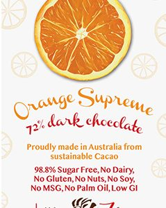 Little Zebra - Orange Supreme 72% Dark Chocolate - 85g from Berry Bon Bon theberrybonbon.com.au