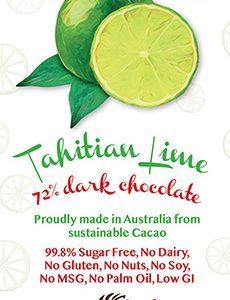 Little Zebra - Tahitian Lime 72% Dark Chocolate - 85g from Berry Bon Bon theberrybonbon.com.au