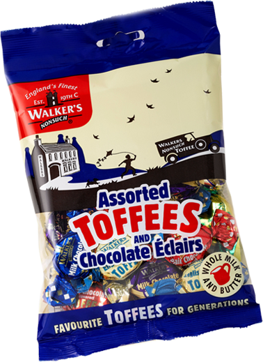 Walkers Toffees Bags - Assorted - 150g from Berry Bon Bon theberrybonbon.com.au