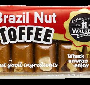 Walkers Toffee Blocks  - Brazil Nut - 100g from Berry Bon Bon theberrybonbon.com.au
