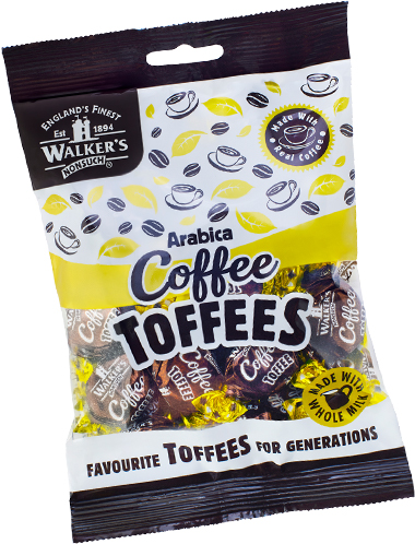 Walkers Toffees Bags - Arabica Coffee Toffees - 150g from Berry Bon Bon theberrybonbon.com.au