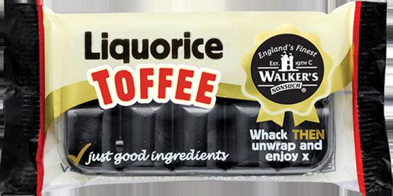 Walkers Toffee Blocks  - Liquorice - 100g from Berry Bon Bon theberrybonbon.com.au