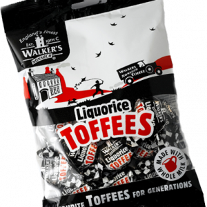 Walkers Toffees Bags - Liquorice - 150g from Berry Bon Bon theberrybonbon.com.au
