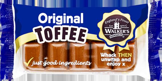Walkers Toffee Blocks  - Original - 100g from Berry Bon Bon theberrybonbon.com.au