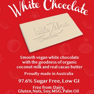 Little Zebra - Keto White Chocolate - 85g from Berry Bon Bon theberrybonbon.com.au